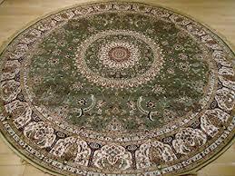 8x8 Rugs Amazon Com Stunning Green Silk Rug Persian Area Rugs 8x8 Circle