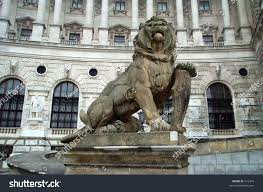 Outdoor Lion Statue by Lion Statue Front Palace Vienna Stock Photo 416473 Shutterstock
