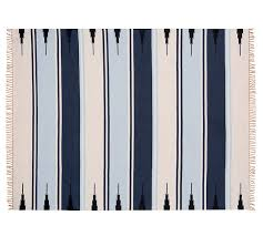 Stripe Indoor Outdoor Rug Serape Stripe Synthetic Indoor Outdoor Rug Blue Pottery Barn