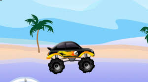 monster trucks video games video game about machines monster truck jumping on car youtube