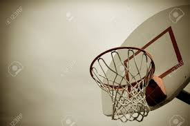 a horizontal cross processed basketball hoop background lots