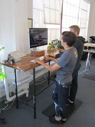 Build Adjustable Height Desk by The Maker Of This Desk Went Out Of Her Way To Make This Sturdy And