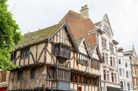 A Framed Houses by Old Timber Framed House On A Street Corner Oxford Oxfordshire