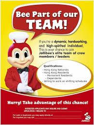resume for part time job in jollibee foods jollibee mongkok home mong kok hong kong menu prices