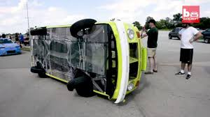 volkswagen lemon woow sideways vw camper van lemons racer youtube