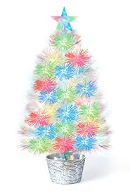 fiber optic christmas decorations white fiber optic christmas tree 25 h tabletop