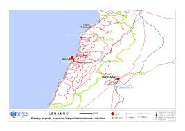 Beirut On Map Lbn Country Map Logistics Cluster