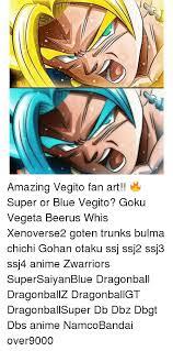 amazing vegito fan art super blue vegito goku vegeta