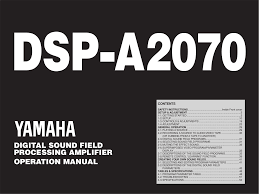 download free pdf for yamaha dsp a2070 amp manual