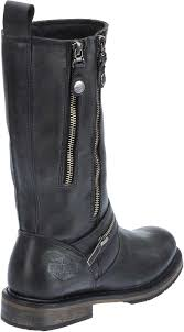 motorcycle riding boots harley davidson women u0027s sackett 10 75 in leather motorcycle boots