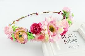 flower headbands online shop flower summer elastic hairband floral headbands for