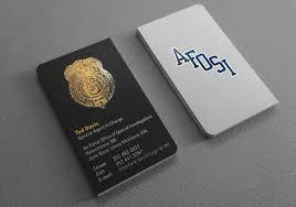 enforcement business cards design printing kraken design