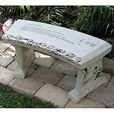 Southwest Outdoor Furniture by Amazon Com Hand Crafted U0027mom U0026 Dad U0027 Cast Stone Garden Bench By