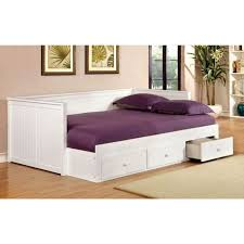 White Wooden Daybed Bedroom White Wooden Daybed With Storage Drawers Combined By
