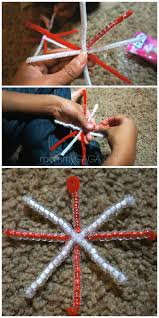easy christmas crafts for kids homemade snowflake ornaments