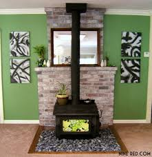 nine red river rock fireplace especially rocks just another way to