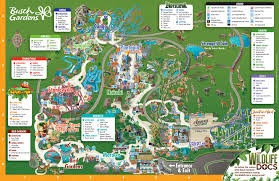 park map busch gardens tampa bay tampa bay maps pinterest