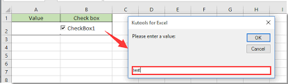 how to change a specified cell value or color when checkbox is