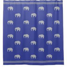 blue elephant shower curtains zazzle