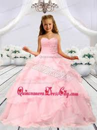 pageant dresses for baby pink beaded decorats girl pageant dress with layers