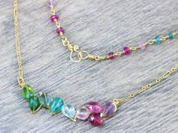 necklace wire images Purple pink blue and green tourmaline bar necklace wire wrapped jpg