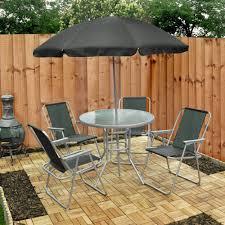 garden table chair umbrella set six piece picnicshop