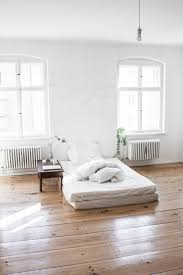 Bedroom Comfortable Bed With Smooth Clean Open Space Love The Wood Floor Bright Windows Comfy