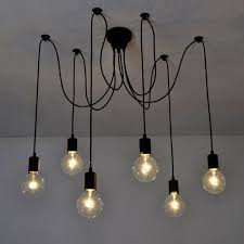 Light Bulb Pendant Fixture by Signstek Retro Industrial Chandelier Vintage Edison Light Bulb