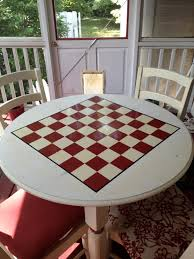 turn a simple table into a game table i painted a checker chess