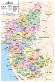 Map Of India Cities Karnataka Travel Map Karnataka State Map With Districts Cities