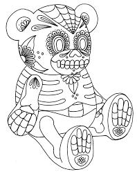 printable coloring pages sugar skulls yucca flats n m wenchkin s coloring pages sugar skull bear