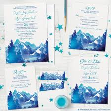 mountain wedding invitations wedding invitations wedding stationery wasootch wasootch