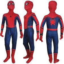 Boys Spider Halloween Costume Boys Girls Spider Man Homecoming Spider Man Jumpsuit Zentai