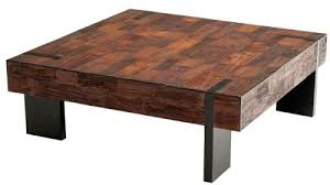 reclaimed wood square coffee table coffee table scrap reclaimed wood also found with silver tone