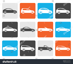 types of cars flat different types cars icons vector stock vector 364699955