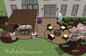 Patio Designs With Pergola by Shaded Pergola Covered Curvy Patio Tinkerturf