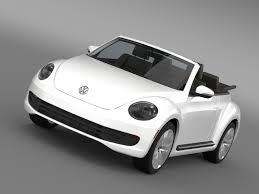 volkswagen car beetle vw beetle tdi cabrio 2014 3d model cgtrader