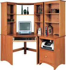 Cherry Corner Desk Small Corner Desk With Hutch Intended For Property Cherry White