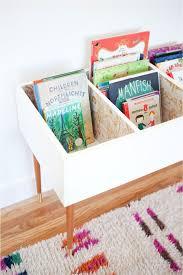 Book Storage Kids | diy kids book bin legs books and playrooms