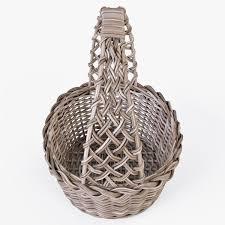 wicker basket 09 gray color 3d model cgtrader