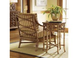 tommy bahama home beach house leather wrapped bent rattan