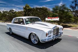rolls royce white convertible slammed 1965 rolls royce silver shadow street machine