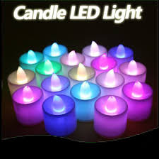 colorful lights for bedroom 20pcs lot led lovely candle 7 color change good night light night