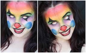 colourful creepy evil clown makeup tutorial youtube
