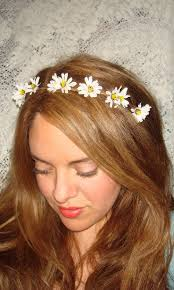 headband flowers flower headband flower crown headband wildflower halo headband