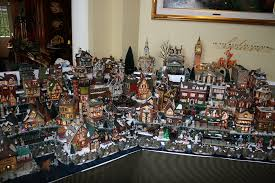 Christmas Village Sets Another View Of Dickens Village Display Snow Village Pinterest
