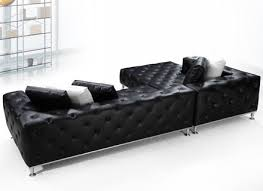 Black Sofa Sectional Black Leather Reclining Sectional Sofa