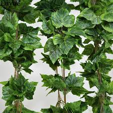 wholesale like real artificial silk grape leaf garland faux vine
