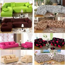 Stretch Sofa Slipcover by 20 Styles Colorful Stretch Elastic Sofa Couch Slip Covers For 1 2
