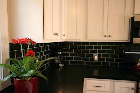 black backsplash kitchen kitchen black subway tile at best backsplash white cabinets